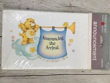 Vintage New Sealed Care Bears Baby Announcements 8 Pack American Greetings NOS