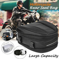 Motorcycle Rear Tail Back Seat Saddle Pack Shoulder Carry Bag Waterproof