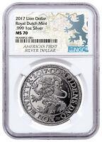 2017 Netherlands Restrike 1 oz Silver New York Lion Dollar NGC MS70 SKU52492