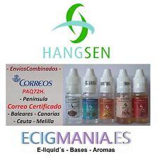 eliquid Hangsen 10ml. varios sabores 0,6,12mg a elegir e liquid envio Paq72h