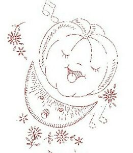 Vintage Embroidery Transfer repo 901 Animated Singing Fruit for kitchen Towels