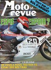 MOTO REVUE 2373 YAMAHA XS 750 ; BPS 350 SWM Trial ; Grand Prix de SPA 1978