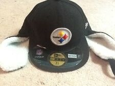 New Era Pittsburgh Steelers NFL Onfield Dog Ear Fitted Hat 7 3/8