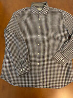 Mens Todd Snyder gingham check button down dress shirt 17 34/35