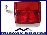 VESPA COMPLETE REAR LIGHT UNIT PX LML CHROMED NEW WITH 2 X FREE BULBS