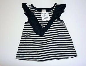 tiny little wonders Brand Girls Striped Singlet Size 00 BNWT #BAB2