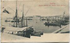 1902 Livorno veduta generale del Vecchio Porto Mediceo navi FP B/N ANIM VG