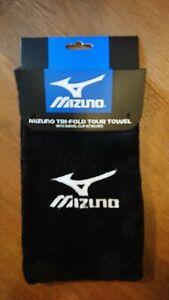 Black Mizuno Golf Towel