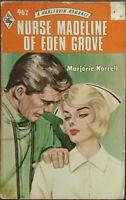 Vintage Harlequin Romance, 962, Nurse Madeline Of Eden Grove, Marjorie Norrell