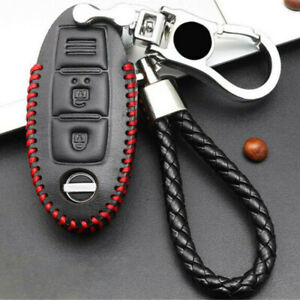 Car faux Leather Remote Key Case Cover Accessories For Nissan Altima 2018-2019