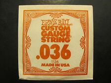 Ernie Ball Custom Guage Guitar String .036 Made In USA Single String 1136