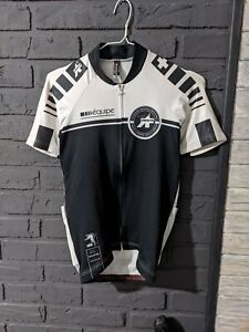 ASSOS EQUIPE - Mens Short Sleeve Full Zip Cycling Jersey - Size S