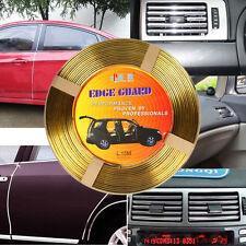 15M Roll Moulding Trim Car Door Edge Guard Strip Molding Protector U shape Gold