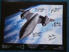 Blackbird SR71 6 signature crew hand signed photo UACC AFTAL