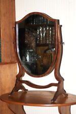 Antique Shield Shaped Mahogany Dressing Mirror - FREE Shipping [PL4330]
