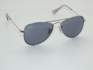 Ray Ban Jr. Aviator RJ 9506S 282/80 Silver/Blue Kids 50mm Sunglasses