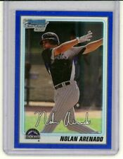NOLAN ARENADO 2010 Bowman Chrome BLUE Refractor Rookie Card RC 150/250 Rockies