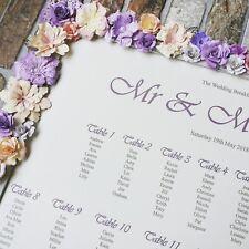 A3 floral frame vintage wedding table plan / seating plan