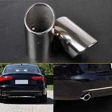 2 PCS CHROME EXHAUST TAIL MUFFLER TIP PIPE for Audi Q7 3.0 TDI TFSI 2006-2013