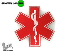 ill Gear STAR OF LIFE LARGE RED MEDIC MEDICAL PARAMEDIC PATCH EMT RED