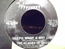 THE BLADES OF GRASS 45 THATS WHAT A BOY LIKES / HAPPY ON JUBILEE RECORDS