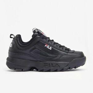 FILA Disruptor II 2 Trainers Chunky Shoes Sneakers - Black(FS1HTB1078X)