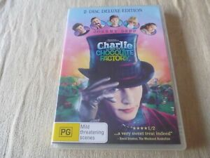 Charlie And The Chocolate Factory - 2 Disc Deluxe Edition (2x DVD, 2006) Reg 4