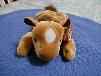 TY Beanie Baby DERBY Horse 1995 Gasport Swing Tag Error