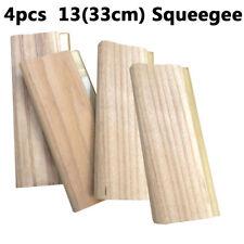 """4 pcs 13"""" (33cm) Screen Printing Squeegee wood Handle Ink Scraper Cleaning Tool"""