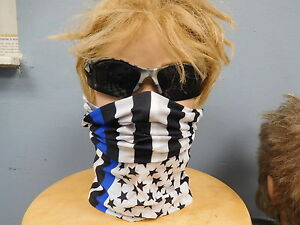 POLICE THIN BLUE LINE MOTLEY TUBE STARS & STRIPES FACE MASK  SHOW YOURE SUPORT