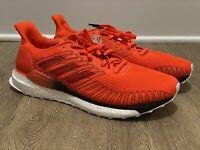 New Adidas Solar Boost 19 G28462 Size 11.5 Orange Black White - Running Shoes