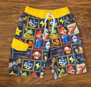 Nintendo Mario Boys Size 8 Swim Shorts