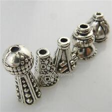 4set=20pcs Mix Fashion Ends Jewelry Findings Filigree Tassel Cap Retro Silver