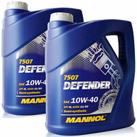 10W-40 Motoröl 2x5L MANNOL Defender VW 501.01 505.00 MB 229.1 ACEA A3/B3
