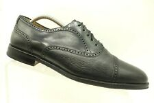 Mezlan Black Deerskin Leather Cap Toe Dress Oxford Shoes Men's 10 M