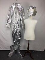 Smiffys Silver Metallic NASA Spaceman Astronaut Moon Man Halloween Costume sz L