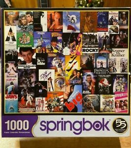 """Springbok """"Going To The Movies"""" 1000 Piece Jigsaw Puzzle Complete 2018 Hallmark"""