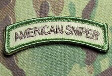 AMERICAN SNIPER TAB ARMY USA ISAF MULTICAM VELCRO® BRAND FASTENER MORALE PATCH