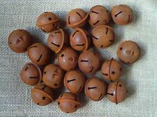 "Rusty Jingle Bells 20 ct  38 mm 1.5"" Diameter Crafts Rustic Primitive 1 1/2"""