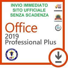 MICROSOFT OFFICE 2019 PROFESSIONAL PLUS 32/64 BIT CODICE ORIGINALE LICENZA ESD