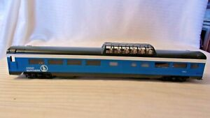 HO Scale Brass Balboa Great Northern Blue Sky Vista Dome Car Painted Light #1323