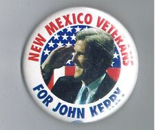"2004 New Mexico Veterans for John Kerry President 2.25"" Political Pinback Button"