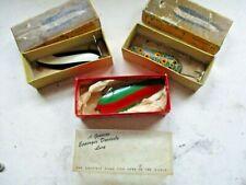 New listing Vintage Eppinger Dardevle Spoons -Lot of 3 Original Boxes, Made in Detroit Usa