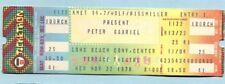 Original 1978 Peter Gabriel unused full concert ticket Long Beach Genesis