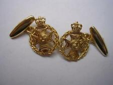 New 9ct Gold ROYAL GREEN JACKETS Regiment Men's Cufflinks. Excellent Quality