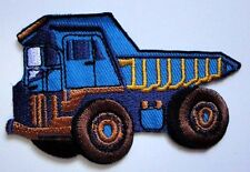 Blue Dump Truck Engine Embroidered Iron on Patch Free Shipping