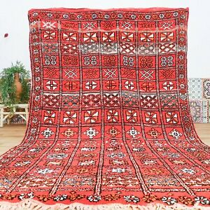 Moroccan Vintage Rug, Handmade Boujaad Rug, Authentic Berber Rug, Antique Carpet