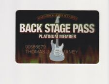 Players Slot Club Rewards Card Hard Rock Hotel & Casino Back Stage Pass PLATINUM