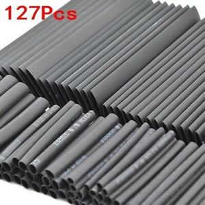 127 Pcs Heat Shrink Sleeving Tube Assortment Kit Electrical Connection Wire rap