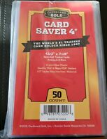"50ct. Cardboard Gold Card Saver 4 - 4 1/4"" X 7 1/8"" FREE Priority Ship  CBG"